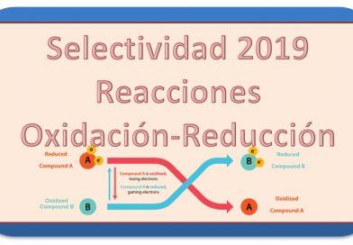 2019. Selectividad. Reacciones Oxidación-Reducción
