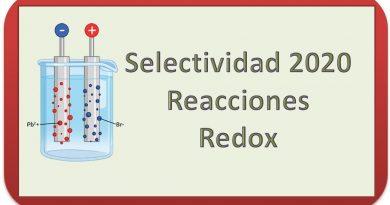 2020. PEBAU. PEvAU. Selectividad. Reacciones Redox