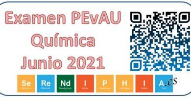 Examen PEvAU Química 2021 Resuelto